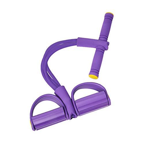 JSHWH-Q HWH Knöchel-Sammlung, dünne Taille dünne Bauch Sit-ups Zusatz Fitnessgeräte Haushaltskrafttraining Zugseil 49 * 26CM Mehrzweck (Farbe : Purple)
