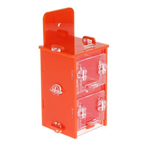Fenteer Bird Forage Toys Parrot Foraging System Alimenti per Giocattoli all\'Interno di Cassetti - Quattro, Come descritto - Doppio, Come descritto