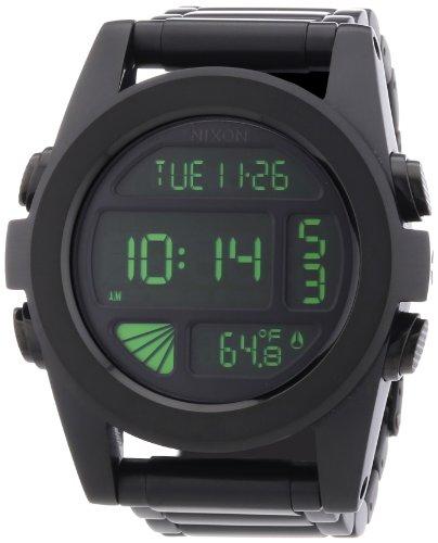Nixon Herren-Armbanduhr XL The Unit SS Chronograph Quarz Edelstahl A360032-00