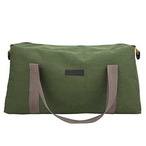 Hapivida Werkzeugtasche aus Segeltuch kompakte Tasche für Werkzeuge Multifunktionale Werkzeugtasche Transporttasche Universal mit weiter Reißverschluss Öffnung