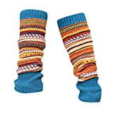 KaloryWee Retro Damen Strümpfe Hohe Socken Mode Patchwork Farbe Twist Socken...