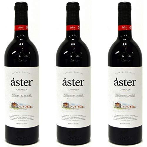 Aster Crianza Vino Tinto  - 3 botellas x 750ml - total: 2250 ml