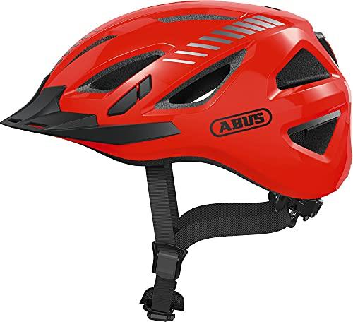 ABUS Urban-I 3.0 Signal Stadthelm - Fahrradhelm mit Rücklicht für den Stadtverkehr - für Damen und Herren - 86872 - Orange, Größe L