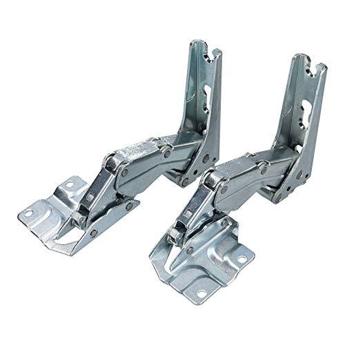 DL-pro Juego de bisagras de puerta superior + inferior adecuado para Bosch Siemens Neff Constructa 12004051 Miele 5433021 frigorífico