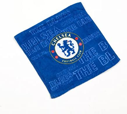 Chelsea Logo Blue Face Cloth Towel Flannel 100%Official