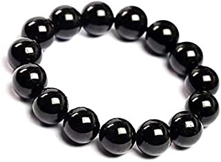 Natural black tourmaline Bracelet Black Crystal Bracelet Jewelry
