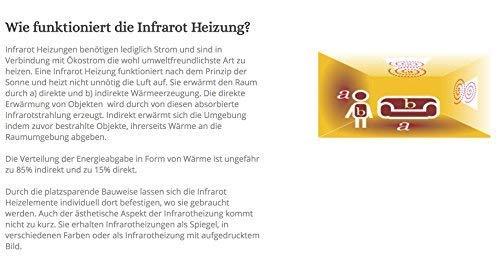 Bildheizung ✓ GS TÜV Siegel ✓  5 Jahre Herstellergarantie ✓ Elektroheizung mit Überhitzungsschutz ✓ - 3