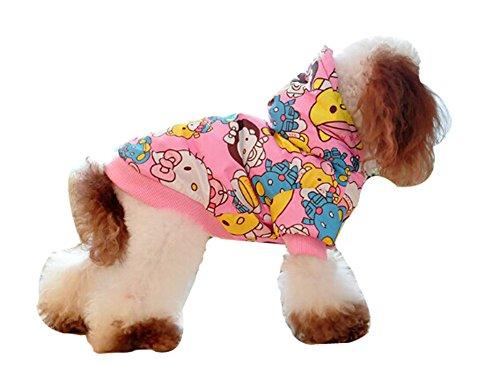 Blancho confortable d'hiver pour chien Veste imperméable pour animal domestique Vêtements (Rose, Taille : L)
