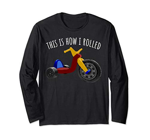 Nostalgic Love 70s 80s Vintage Retro Toys Big Tricycle Wheel Long Sleeve T-Shirt