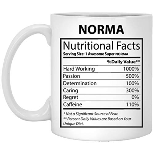 N\A Personalisierte Tasse für Kinder - Norma Nährwertangaben - Benutzerdefinierte Kaffee-Tee-Tassen für den besten Freund an Weihnachten - Weiße Keramik