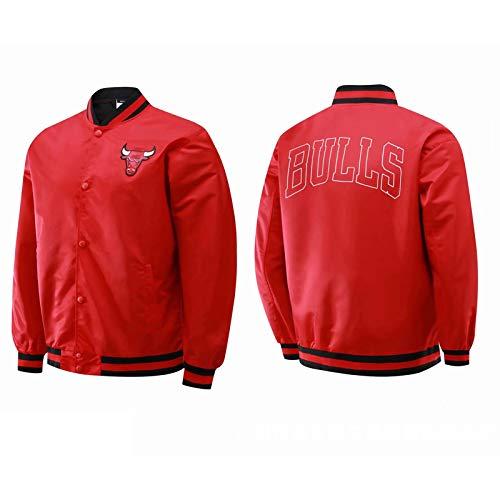 Chicago Bulls 23# Jordanien Basketball Jerseyjacke, Langarm Basketball Trikots Mode Sweatshirt Jacke Mantel Top, Herren Sport Training Kleidung (S-XXL) red-XL