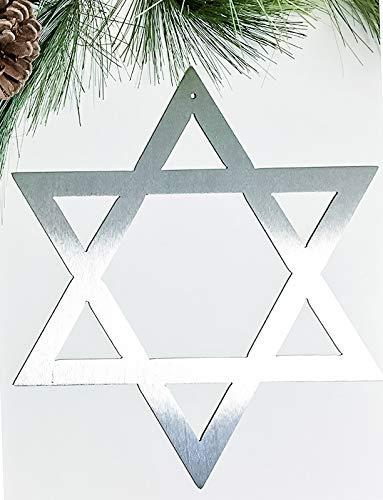 Star of David Metal Hanukkah Gifts Shield of David Wall Hanging Hanukkah Decorations Plaque Home Decor