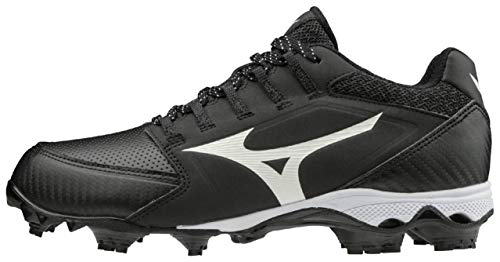 Mizuno 320590.9000.16.1150 9-Spike Advanced Finch Elite 4 Womens TPU Molded Softball Cleat Black-White (9000) 11 1/2 (1150)