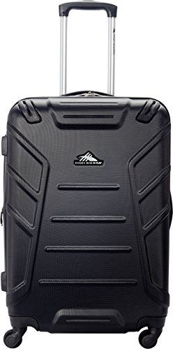 High Sierra Rocshell Hardside Spinner Luggage, Black, Checked-Medium 24-Inch