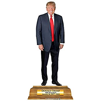 Wet Paint Printing + Design HP25045 President Donald Trump Pedestal Cardboard Cutout Standup