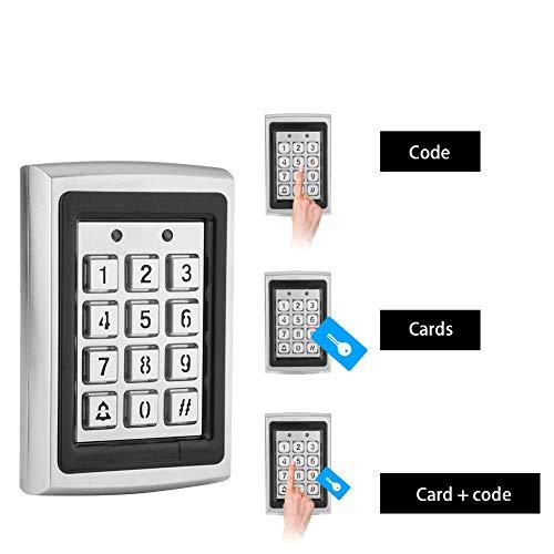Wendry Access Controller, Tastatur des Card Door Access Controllers mit Zugangskontrolle für die Hintergrundbeleuchtung, 3 Optionen (Karten, Code, Karte + Code), weit verbreitet, Lange Lebensdauer