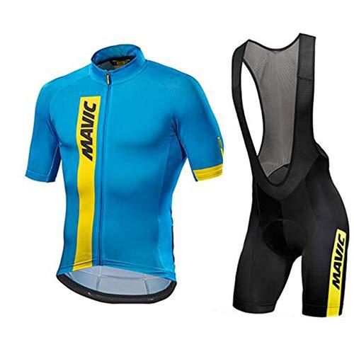 Hplights Maillots de Ciclismo Hombres Camiseta y Pantalones Cortos de Ciclismo/Culotte Ciclismo...