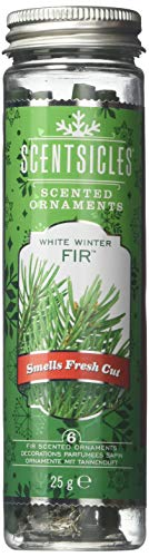 Scentsicles White Winter Fir Scented Ornaments with Hooks - 2 Bottles (12 Sticks Total)