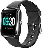 Smartwatch Reloj Inteligente Hombre Mujer Niños Impermeable IP68 10 Días Autonomía Pulsera Actividad con Pulsómetro Podómetro Control de Música Monitor de Sueño para Android iOS