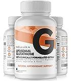 Liposomal Glutathione (600 mg) - Setria® Reduced Glutathione Capsules for Skin Whitening Antioxidant Support Liver Health Immunity & Detox - Glutathione Supplement - L-Glutathione Pills (60 ct)