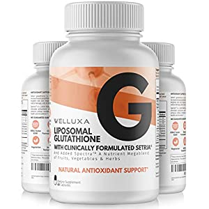 Liposomal Glutathione Setria® (600 mg) – Pure Reduced Glutathione Capsules for Skin Whitening Antioxidant Support Liver Detox Immunity – Liposomal Glutathione Supplement – GSH L-Glutathione (60 ct)