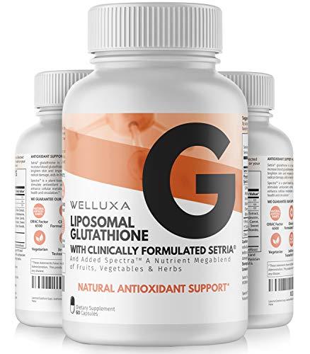 Liposomal Glutathione (600 mg) - Setria® Reduced Glutathione Capsules...