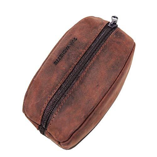Lilosac® - Porte-Monnaie Homme - Grain de café - Cuir épais Souple résistant - pour Poches Pantalon ou Veste (Brun écorce)
