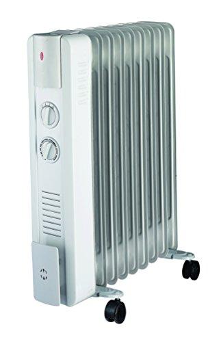 Ypsos 811500 Radiateur à bain dhuile 1500 W avec Thermostat mécanique Gris Clair