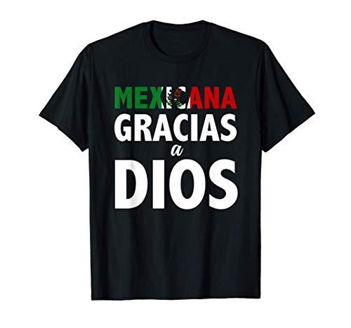 Mexicana Gracias a Dios - Playera con Frases Religiosas Camiseta
