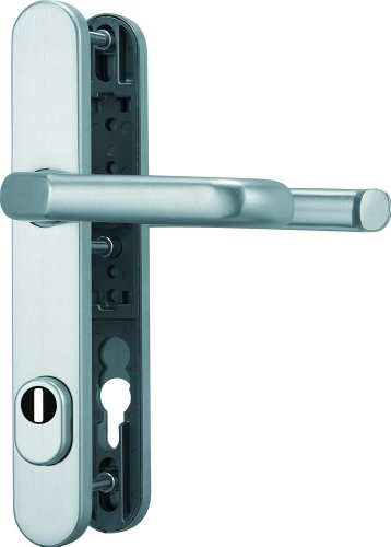 ABUS Tür-Schutzbeschlag SRG92 F1 aluminium mit Zylinderschutz & beidseitigem Drücker 47958