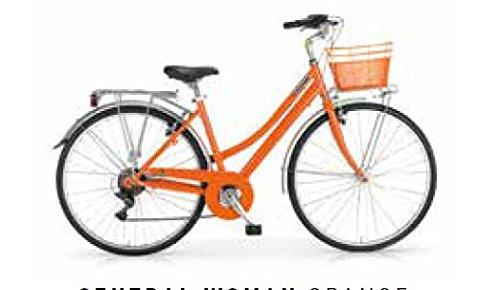 MBM Central, Bicicletta da Trekking Donna, Arancia (Arancio A15), 28'