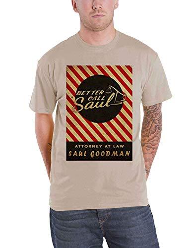 Better Call Saul offiziell Herren T Shirt Breaking Bad Matchbox Logo Nue Braun