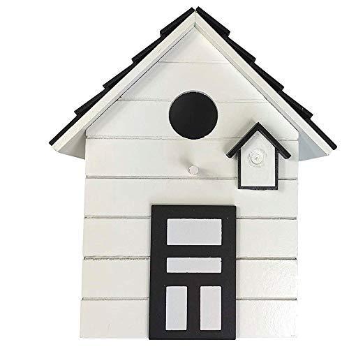 CasaJame Maison Ameublement Accessoires Jardinage Décoration Jardin Nichoir pour Oiseaux Blanc 17x12x20cm