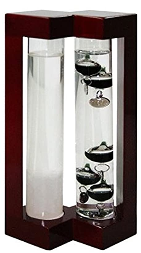 Ambient Weather AW-YG737S-RD Admiral Fitzroy Storm Glass and Galileo Thermometer