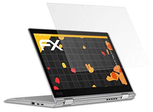 atFolix Panzerfolie kompatibel mit Lenovo ThinkPad X1 Yoga 3rd Gen. 2018 Schutzfolie, entspiegelnde & stoßdämpfende FX Folie (2X)