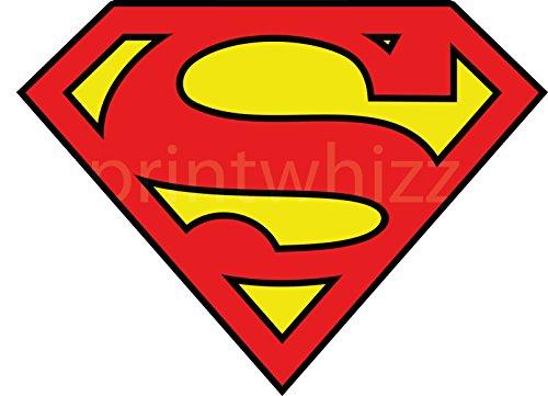 3 x de Logo de Superman 80 X60 millimeter con el escudo del vinilo adhesivo para milímetros de coche de diseño de martillo de Thor de cómics de pared para