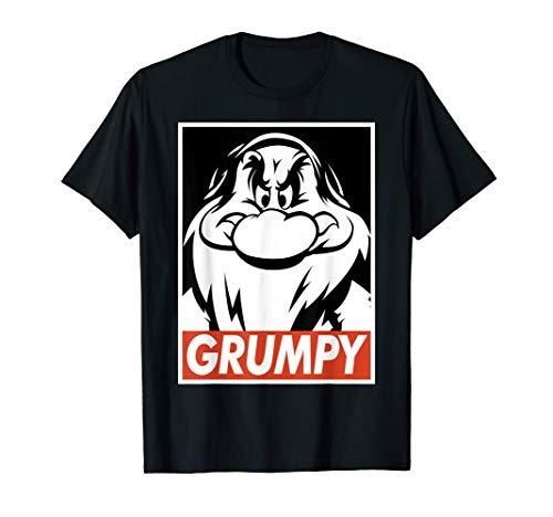 Disney Snow White Grumpy Streetwear Poster Graphic T-Shirt