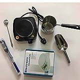 Cakunmik Herramientas de fabricación de Velas de aromaterapia 6pcs, Herramientas de fabricación de Velas de Bricolaje, Vela Haciendo Máquina de Cera, 110V-220V