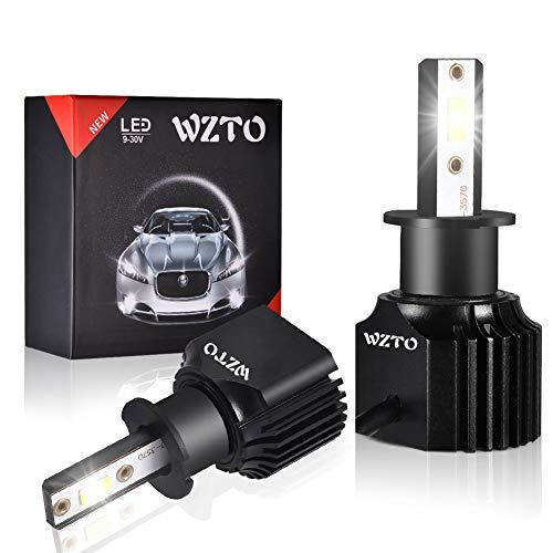 WZTO H3 LED Bombilla Luz de Niebla 3500 Lumen 100W Bombilla para Coche Super Brillante CSP Chips 6000K IP68 Impermeable Duradero