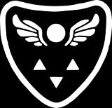 Delta Rune Undertale Symbol - Vinyl 5.5 Inches Tall (Color: White) Decal Laptop Tablet Skateboard Car Windows Stickers