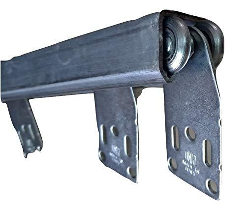 TENDEEVOLUTION Binario monorotaia in Ferro ZINCATO Completo di scorrevoli per Teli in Tessuto PVC tettoie gazebi pergole capanni, Scegli la Tua Misura (L. 400 CM)