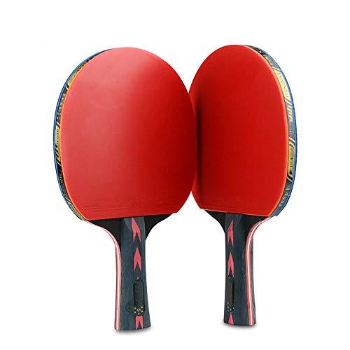 2 raquetas de tenis de mesa profesionales de madera de goma para tenis de mesa, paddle equipo deportivo de ping pong