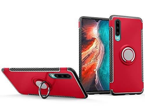 BRAND SET Funda Xiaomi Mi 9 SE,La combinación PC y TPU Proporciona Doble protección,Estuche Protector de Soporte Giratorio de 360 Grados Adecuado para Xiaomi Mi 9 SE-Rojo