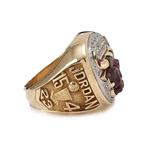 Fei Fei NBA Bulls 1993 Championship Ring Anillos de Hombre, Championship Anillo de réplica Personalizado Anillos de Diamantes para Hombres,Without Box,11