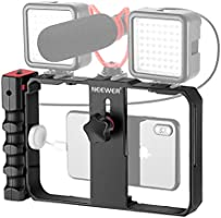 Neewer Plastic U Rig Smartphone Video Rig, Filmmaking Cage, Phone Video Stabilizer Grip Tripod Mount for Videomaker...