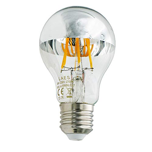 Laes Standard Cupula Regulable 988420 220-240V 6W E27 2700K. Equivale a 48W. 595 lumen. 20.000 Horas. 60x105mm