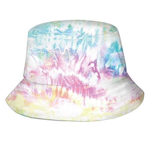 Distorted Pastel Tie Dye Print,Mens Womens Trends Fashion Fisherman's Bucket Hat