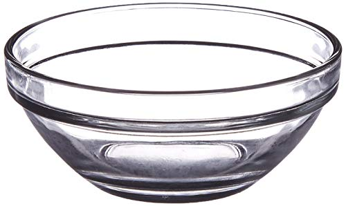 Lauryn Janae Premium Mini 3.5 inch Stackable Glass Dipping Sauce Custard Pinch Prep Bowls (Set of 6) by Lauryn Janae