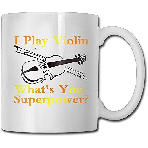 Ik spelen viool wat je bent? Supermacht koffiemok 11 ounces jongens-idee keramiek geschenken theekop