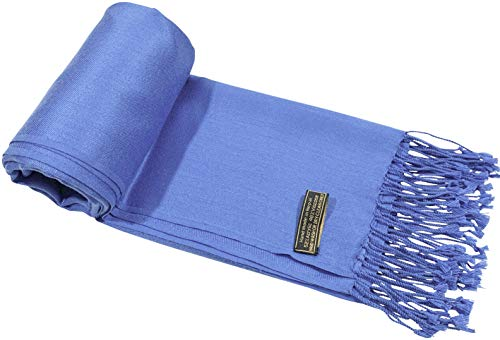 CJ Apparel Solid Colour Design Nepalese Tassels Shawl Scarf Wrap Pashmina Seconds NEW